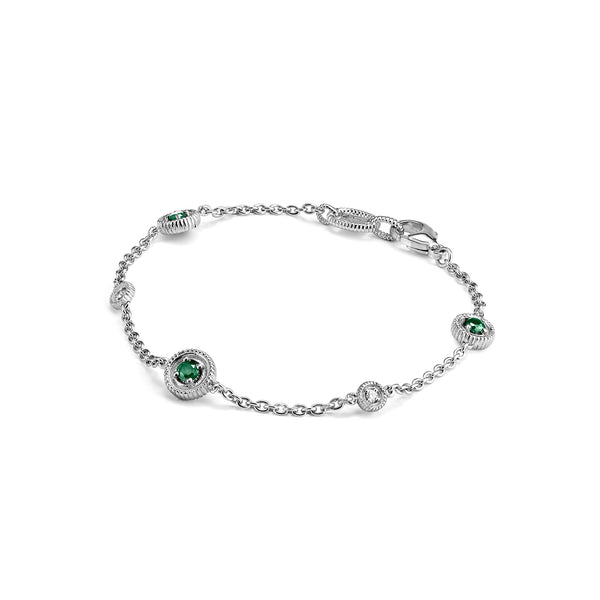 Max Bracelet with Emerald and Diamonds