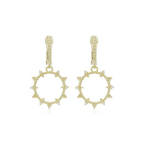 RIPKA Juliette Open Circle Earrings with Diamond Accents