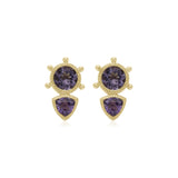 RIPKA La Petite Amethyst & Trillion Lavender Amethyst Stud Earrings