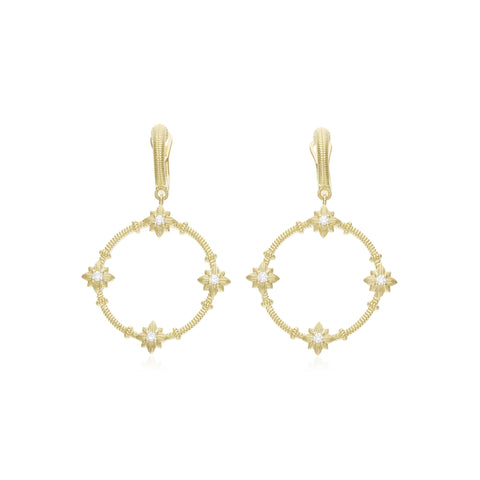 RIPKA Starlight Forward Facing Hoop Earrings with Diamond Accents