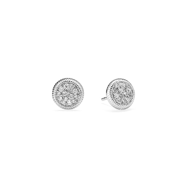 Max Pave Stud Earrings with Diamonds