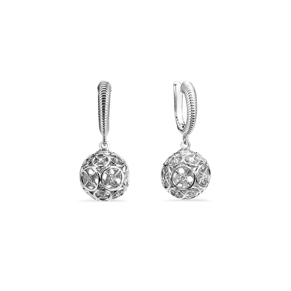 Max Earrings with Diamonds