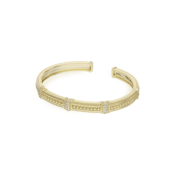 Estate Pia Cuff with Diamond Pavé Stations