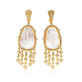 JUDITH RIPKA LTD Celestial Mother Of Pearl Earrings with Diamonds