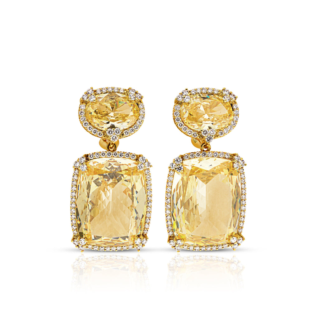 white earrings diamond canary natural ladies gold