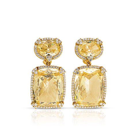 *SPECIAL ORDER* JUDITH RIPKA LTD Monaco Canary Crystal Earrings with Diamonds