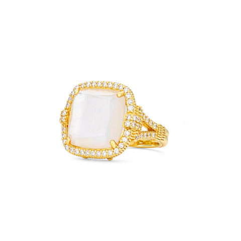 *SPECIAL ORDER* JUDITH RIPKA LTD Arianna Mother Of Pearl Doublet Ring with Diamonds
