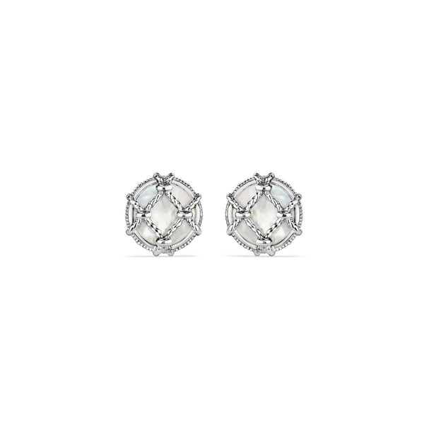 Isola Stud Earrings with Mother of Pearl