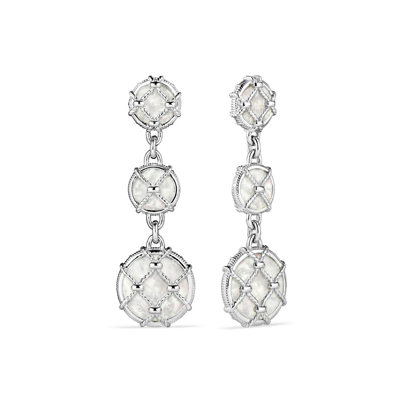 Isola Triple Drop Earrings with Mother of Pearl