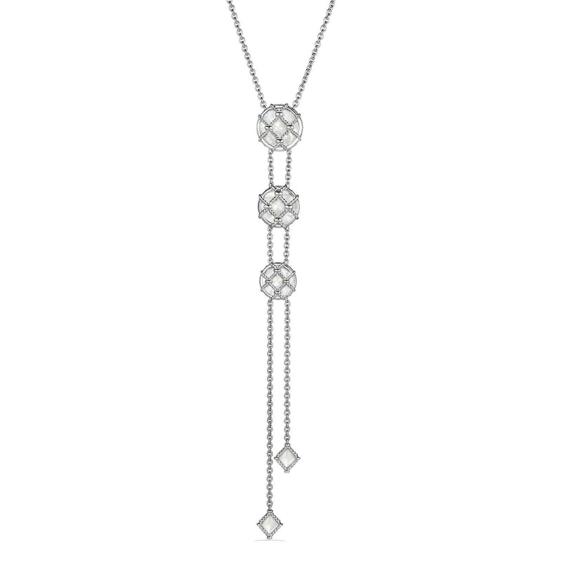 Isola Lariat Necklace with Mother of Pearl