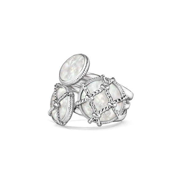 Isola Cluster Ring with Mother of Pearl