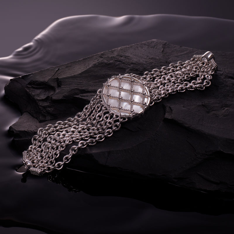 Isola Multi Chain Bracelet with Mother of Pearl