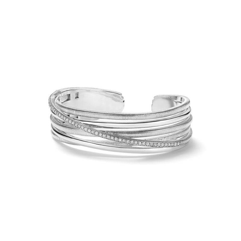 Eternity Highway Cuff Bracelet with Diamonds