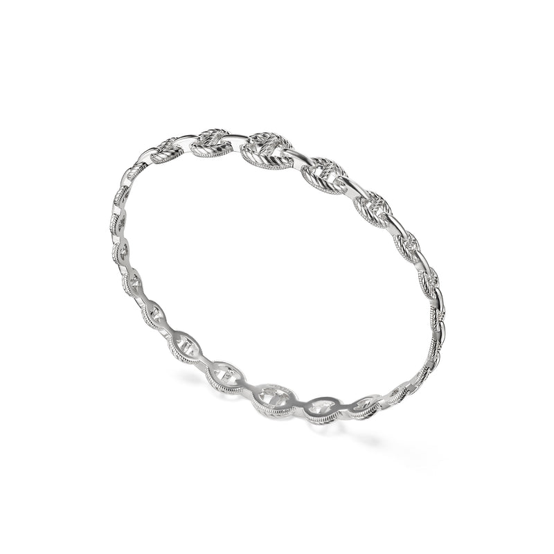 Vienna Graduated Link Stack Bangle