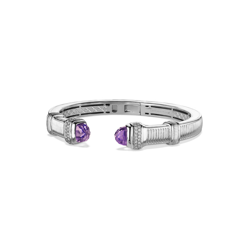 Cassandre Medium Bracelet with Amethyst and Diamonds