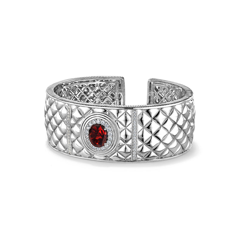 Max Cuff with Garnet and Diamonds
