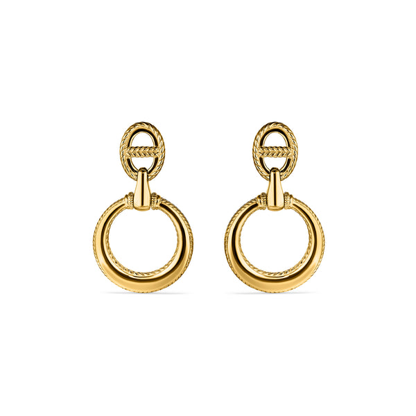 Vienna Door Knocker Earrings in 18K