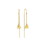 Eros Heart Threader Earring in 18K