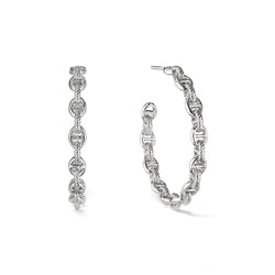 Vienna Chain Link Hoop Earrings