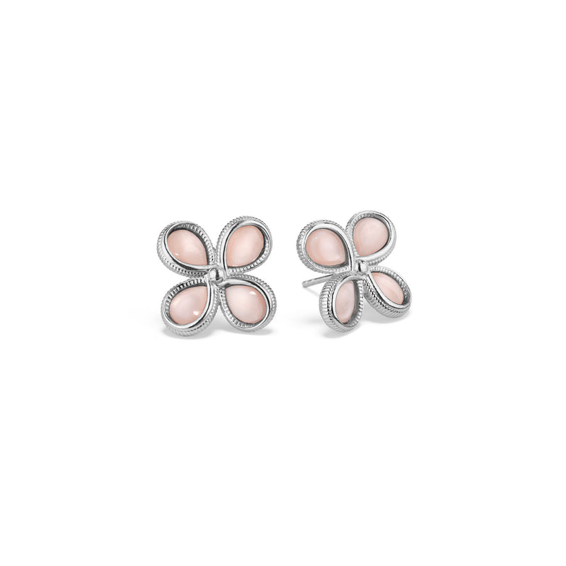Jardin Stud Earrings with Pink Mother of Pearl