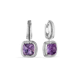 Cassandre Drop Earrings with Amethyst