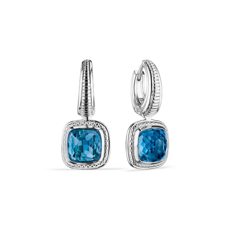 Cassandre Drop Earrings with London Blue Topaz