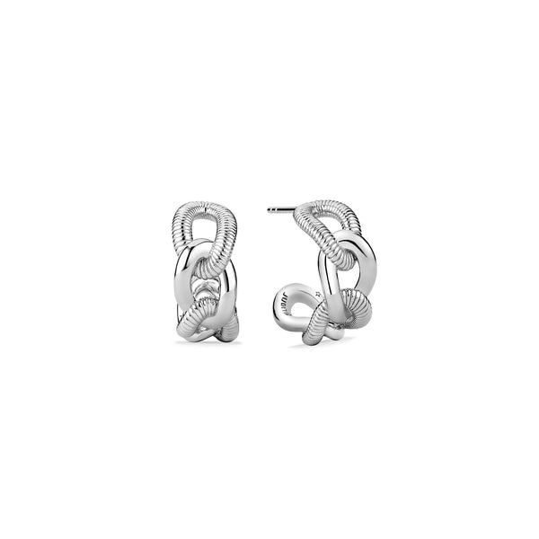 Eternity Open Link Hoop Earrings