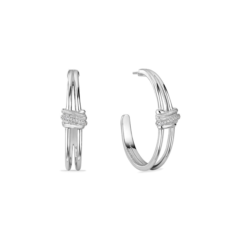 Eternity Highway Hoop Earrings with Diamonds
