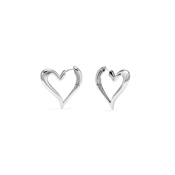 Eros Open Heart Hoop Earrings