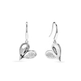 Eros Heart Drop Earrings with Diamonds