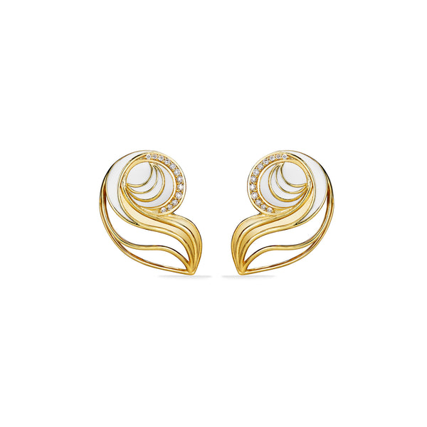 Adoro Earrings with Diamonds in 18K Gold Vermeil