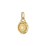 Little Luxuries Sun and Moon Medallion with Diamonds in 18K