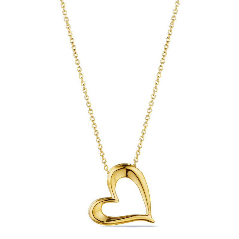Eros Open Heart Necklace in 18K