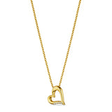 Eros Open Heart Necklace with Diamonds in 18K