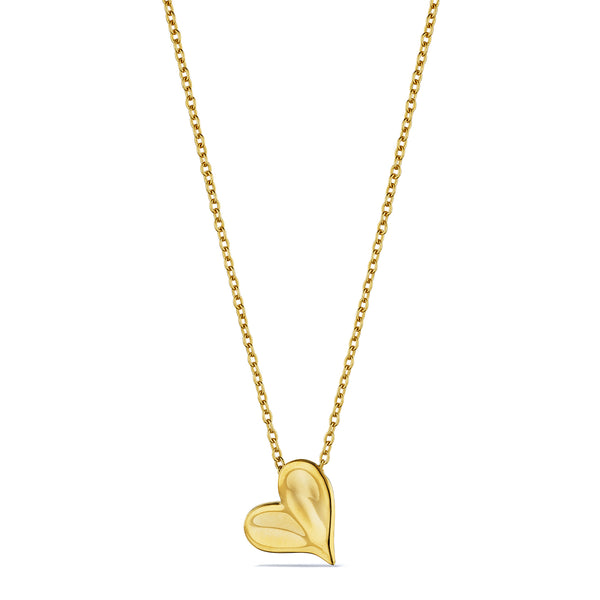 Eros Heart Necklace in 18K