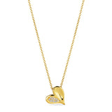 Eros Heart Necklace with Diamonds in 18K