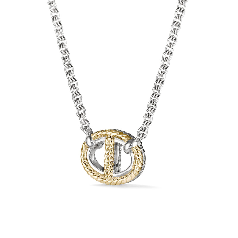 Vienna Single Link Necklace with 18K Gold