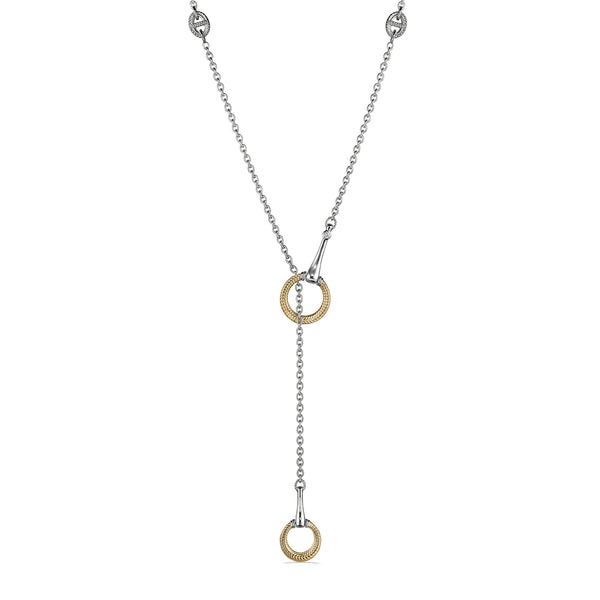Vienna Y Necklace with 18K Gold and Diamonds