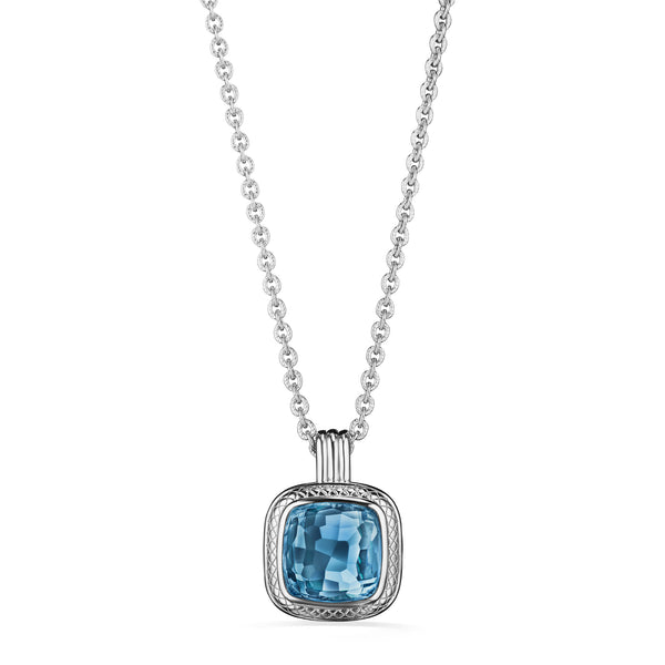Cassandre Necklace with London Blue Topaz