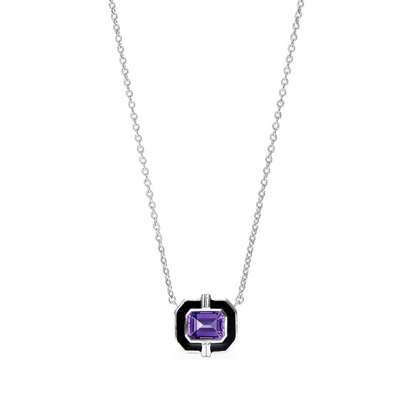 Adrienne Necklace with Enamel and Amethyst