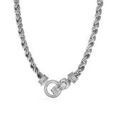 Adrienne Rope Necklace with Diamonds