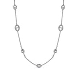 Vienna Long Link and Bit Station Necklace