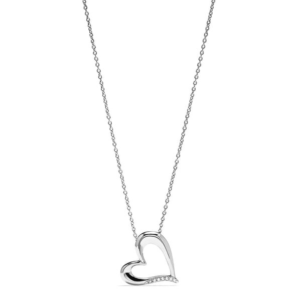 Eros Open Heart Necklace with Diamonds