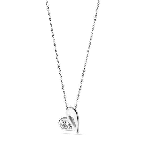 Eros Heart Necklace with Diamonds