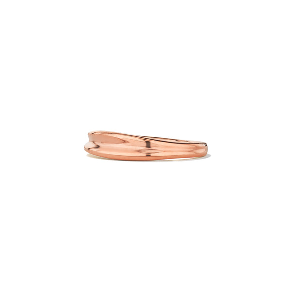 Eros Sculptural Band Ring in 18K Rose Gold