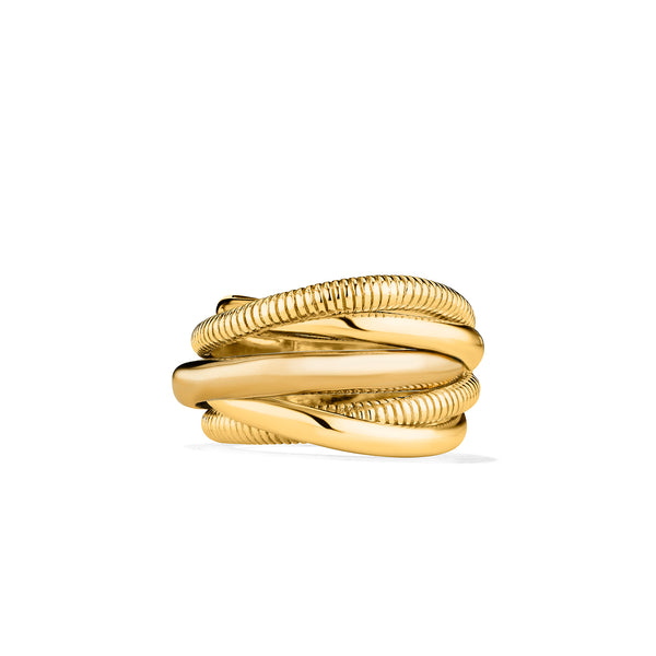 Eternity Five Band Highway Ring in 18K