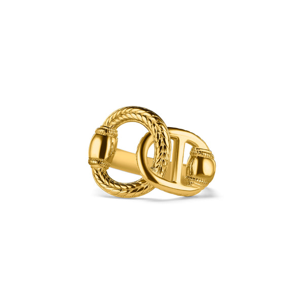 Vienna Interlocking Ring in 18K