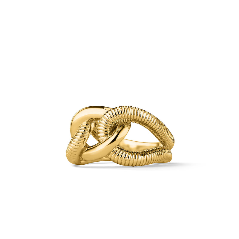 Eternity Interlocking Link Ring in 18K
