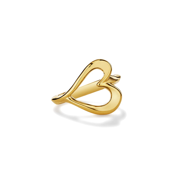 Eros Open Heart Ring in 18K