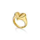 Eros Heart Signet Ring in 18K